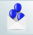 modern blue balloons background for happy vector image