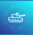 modern tank icon heavy armoured combat vehicle vector image vector image