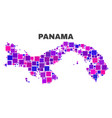mosaic panama map of square elements vector image vector image