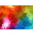 multicolor color geometric triangle wallpaper vector image vector image