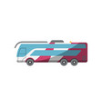 passenger bus for plane boarding icon vector image vector image