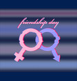 pink and blue gender symbols for men and women wit vector image vector image