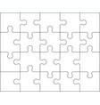 puzzle separate pieces vector image vector image