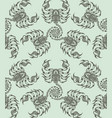 repaint seamless pattern scorpions vector image vector image