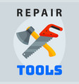 repair tools hammer trowel icon creative graphic vector image vector image