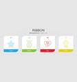 ribbon icons vector image vector image