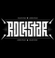 rock star - typography for t-shirt design or vector image