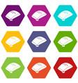 sand bag icons set 9 vector image vector image