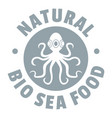 sea food logo simple gray style vector image