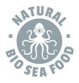sea food logo simple gray style vector image vector image