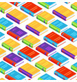 seamless pattern with isometric books vector image vector image