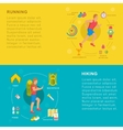 Set Sport and Fitness Banners vector image vector image