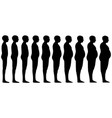 silhouette of a human men set blend from thin vector image