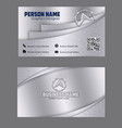 silver color effect visiting card image vector image vector image