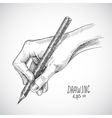 Sketch hand pencil vector image vector image