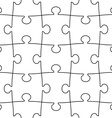 transparent seamless puzzle vector image vector image