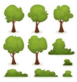 trees hedges and bush set vector image vector image