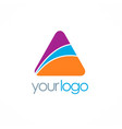 triangle colored logo vector image vector image