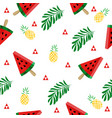 tropical watermelon slice pattern vector image