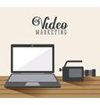 video marketing design vector image vector image