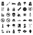 virus icons set simple style vector image