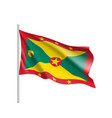 waving flag of grenada vector image vector image