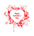 white and red happy valentines day gift card vector image vector image