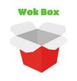 wok box asian food japan noodles vector image vector image