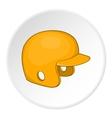 Yellow baseball helmet icon cartoon style vector image vector image