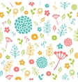 Seamless floral pattern Colorful vector image