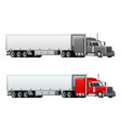 trailer truck long vehicle isolated icons vector image