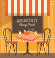 modern flat design of street cafe vector image