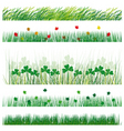 a set of strips of grass and leaves vector illustr vector image