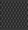 abstract geometric background with cubes in black vector image vector image