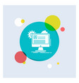 account profile report edit update white glyph vector image vector image