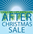 After christmas sale background vector image