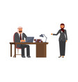 arabic business man and business woman vector image