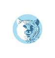 Bear Head Smiling Circle Drawing vector image vector image