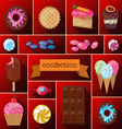 Beautiful images of a variety of sweets vector image vector image