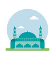 blue mosque in flat vector image
