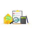 business accounting concept vector image
