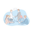 business meeting negotiation team agreement vector image vector image