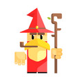 cartoon garden gnome with smoking pipe fairy tale vector image vector image
