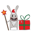 Cartoon of a cool new year rabbit with star and