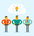 caucasian businessmen discussing business ideas vector image vector image