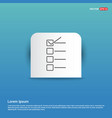 check list ok icon - blue sticker button vector image vector image