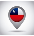 chile flag pin vector image vector image