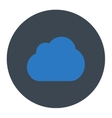 Cloud flat smooth blue colors round button vector image vector image