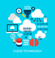 cloud technology flat concept vector image vector image