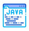 coding language java system thin line icon vector image